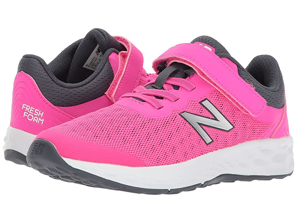 New Balance Kids KVKAYv1Y (Little Kid/Big Kid) (Pink Glo/Thunder) Girls Shoes