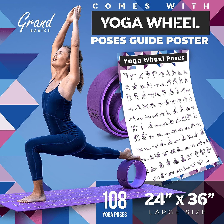 Amazon.com  Yoga Wheels with Pose Guide   Yoga Wheel Set of 50 ...