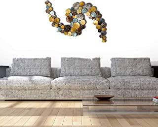 Craftter Metal Design Large Metal Wall Art (Multi Color, Lenth- 2 inch X Width - 42 inch X Height - 24 inch)