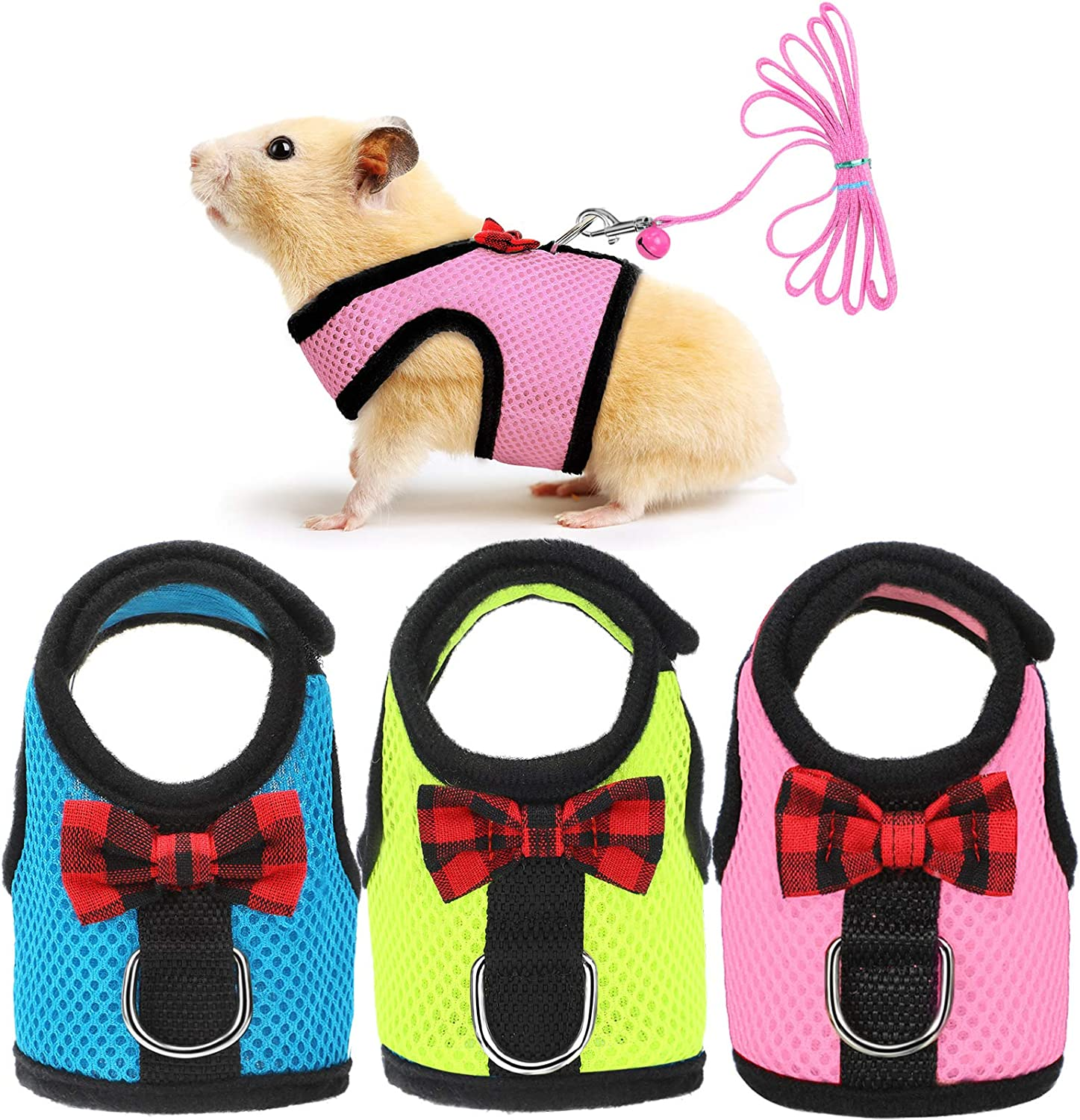 3 Pieces Max 54% OFF Guinea Pig Harness and Small Soft Al sold out. Pet Harnes Mesh Leash