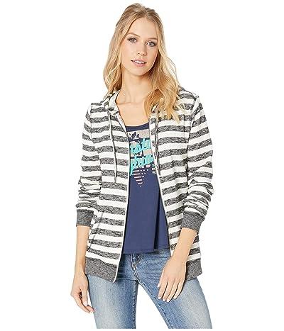 Roxy Trippin Stripe Zip Hoodie (Black 2X2 Stripe) Women