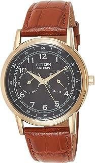 Citizen Mens Quartz Watch, Analog Display and Leather Strap AO9003-08E