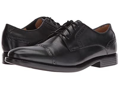 Dockers Hawley Cap Toe Oxford (Black Polished Full Grain) Men