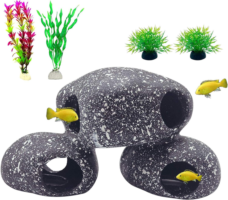 Tfwadmx El Paso Mall Resin Jacksonville Mall Cichlids Rock Decor Hideaway Aquarium Stone Decora
