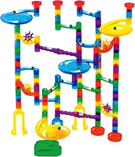 Marble Genius Marble Run Starter Set – 130 Complete Pieces + Free Instruction App..