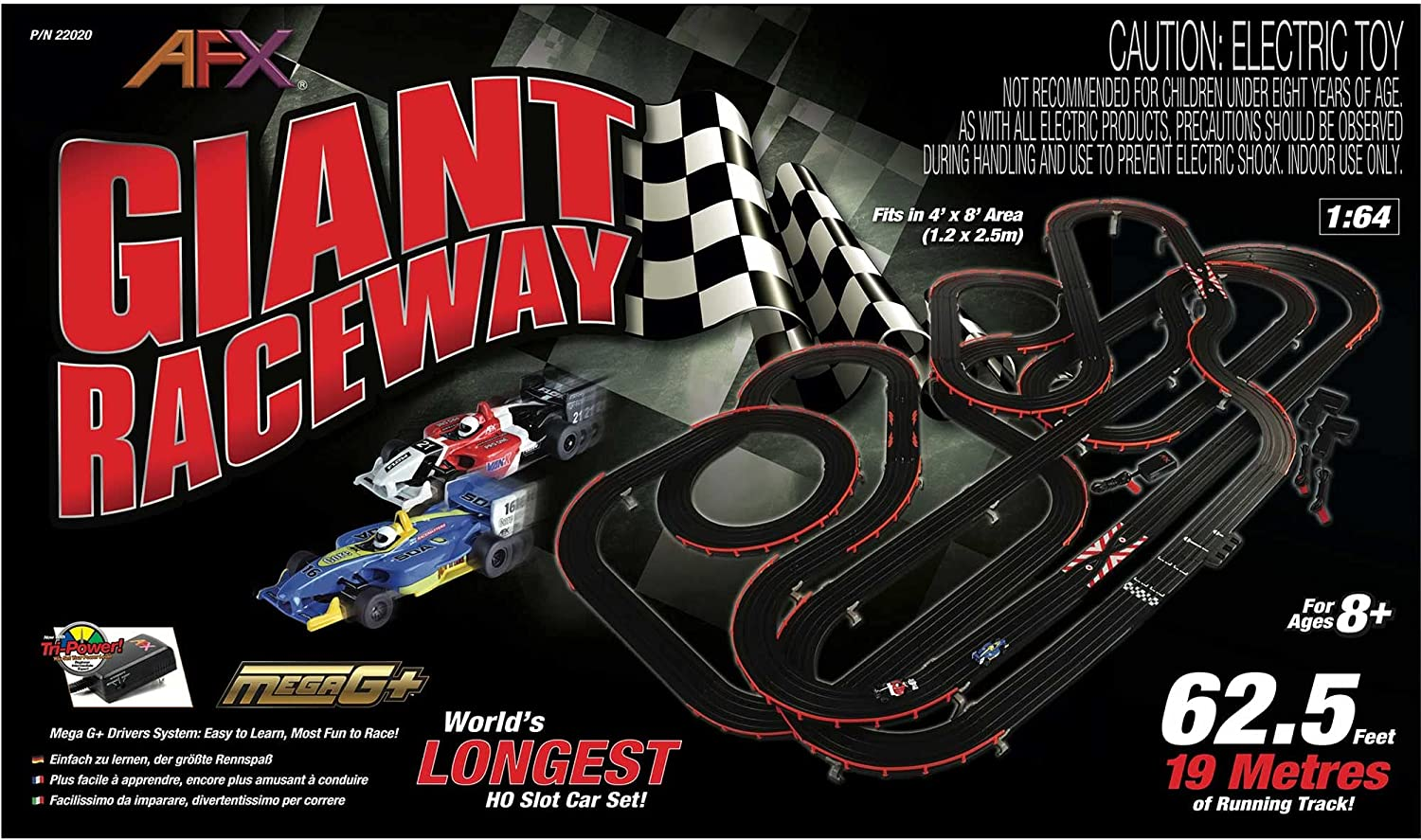 AFX Racemasters Today's only Giant Set free Without Counter AFX22020 Digital Lap