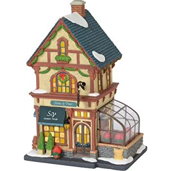"""Department 56 Christmas in The City Village Stems and Vines Garden House Lit Building, 8.75"""", Multicolor"""