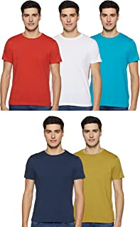 Amazon Brand - Symbol Men's Regular fit T-Shirt (Pack of 5)