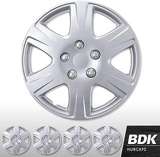 Entweg-Hubcaps 56mm Car Wheel Center Caps Hub Tyre Rim Hub Cap Cover Universal ABS Chrome Silver 4PCS