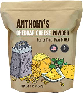 Anthony's Premium Cheddar Cheese Powder, 1Pound, Batch Tested and Verified Gluten..