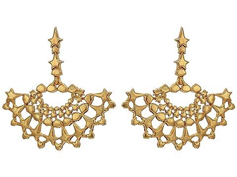 Oscar de la Renta Geometric Fan P Earrings