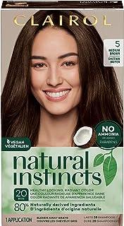 Clairol Natural Instincts Semi-Permanent Hair Dye, 5 Medium Brown Hair Color, 1 Count