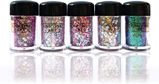 Magical Unicorn Glitter - Extra Fancy Chunky Style - Luxe Set of 5 - Large 10g Each