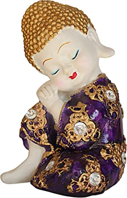 TIED RIBBONS Buddha Figurine Statue Showpiece for Gifting, Home, Drawing Room, Office Decoration