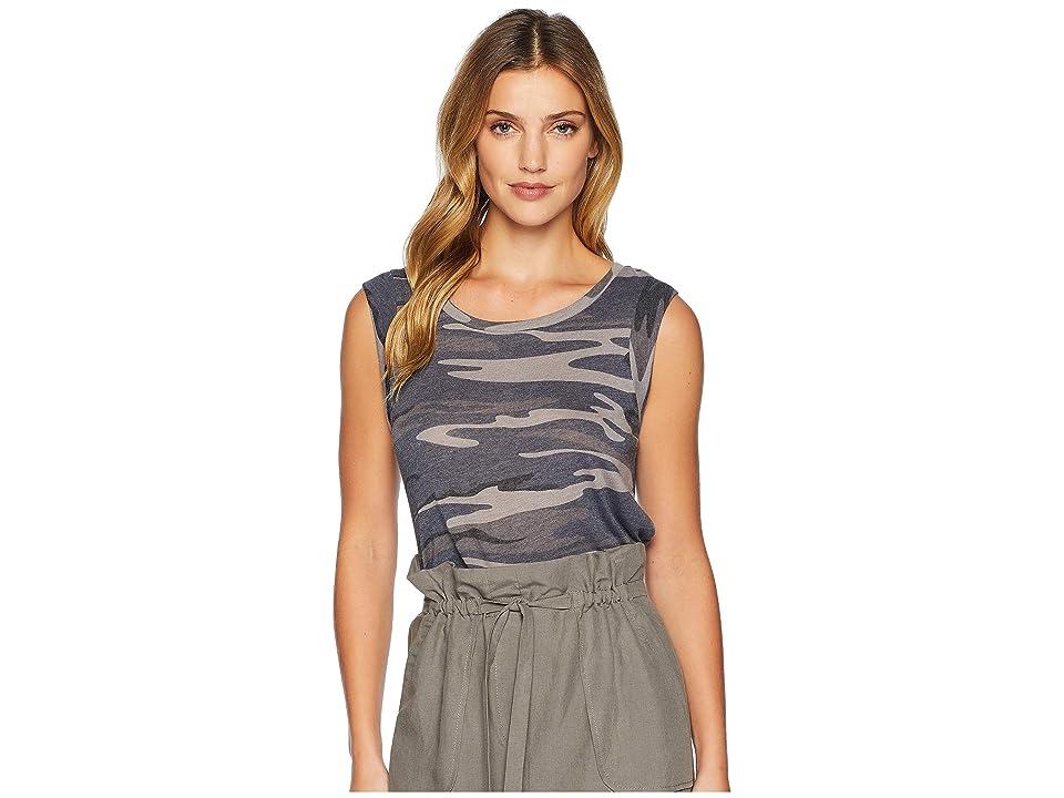Alternative Cap Sleeve Printed Eco-Jersey Crew T-Shirt (Slate Camo) Women