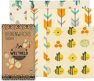 Weltheld Bienenwachstücher   Bienenwachstuch Kaktus   Beewax Wrap   Bio Wachspapier   plastikfrei   Ersatz für Frischhaltefolie