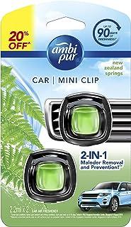 Ambi Pur Car Mini Clip New Zealand Springs Car Air Freshener 2 x 2.2ml