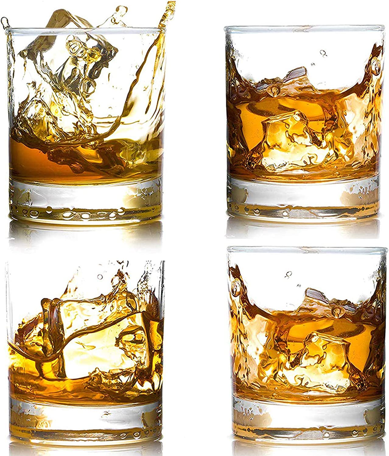 4 Pack Daily bargain sale Whiskey Glasses 12 Fashioned Scotch Old Whiske OZ Ranking TOP1