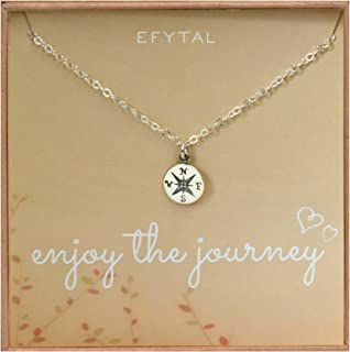EFYTAL Graduation Gifts for Her, Sterling Silver Compass...