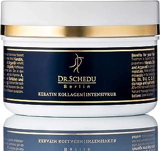 Dr. Schedu Berlin Keratin Kollagen Intensivkur 200ml, mit Arganöl, Jojobaöl, Sheabutter und Aloe Vera, 100% silikonfrei & ...