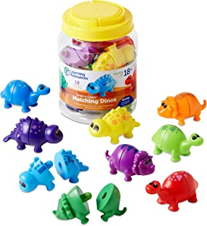Learning Resources Snap-n-Learn Matching Dinos, Fine Motor, Counting & Sorting Toy, 18 Pieces, Ages 18mths+, Multi color