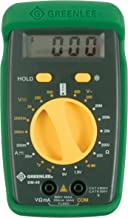 Greenlee DM-40 Manual Ranging 600 Volt Multimeter Checks AC/DC Voltage, DC Amperage and Temperature Measurement