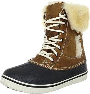 حذاء برقبة AllCast Luxe Duck للنساء من Crocs