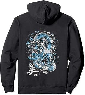 Geisha Hoodie lewd girl mighty blue dragon spirit