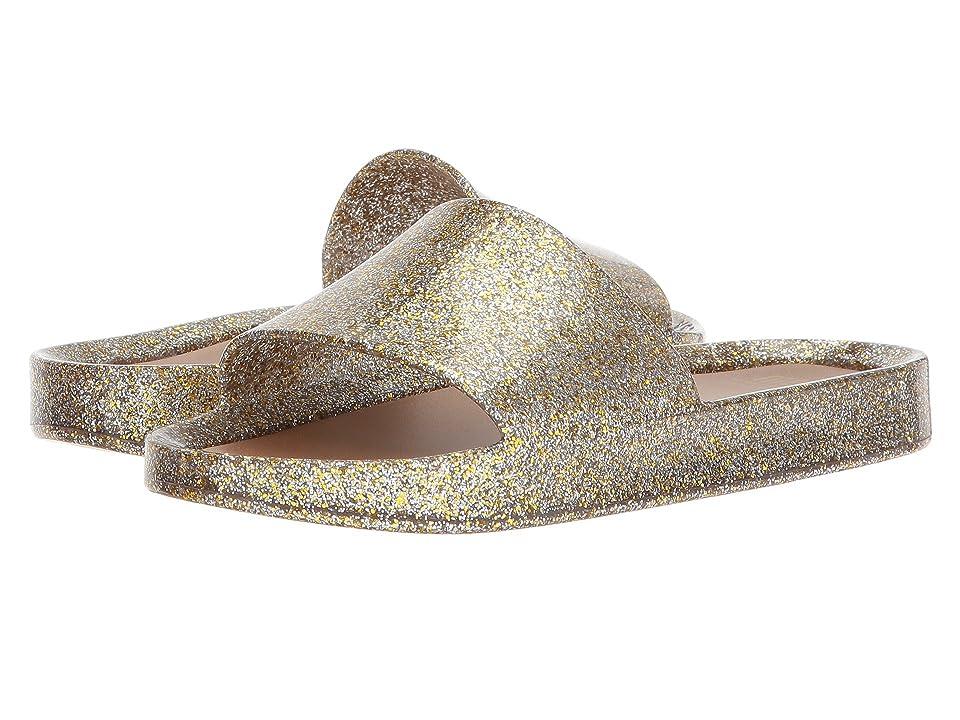 Mini Melissa Mel Beach Slide (Little Kid/Big Kid) (Mix Gold Glitter) Girls Shoes