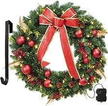 outdoor christmas wreaths for front door