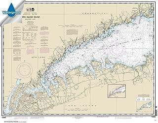 Paradise Cay Publications NOAA Chart 12363: Long Island Sound Western Part 32.5 x 41.6 (WATERPROOF)