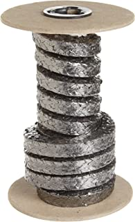 Black Sterling Seal /& Supply SSS1100TCP.187x1-V Expanded Flexible Braided Packing 3//16 Cross Section 1 Cut Length 1100TCP-V Graphite.187