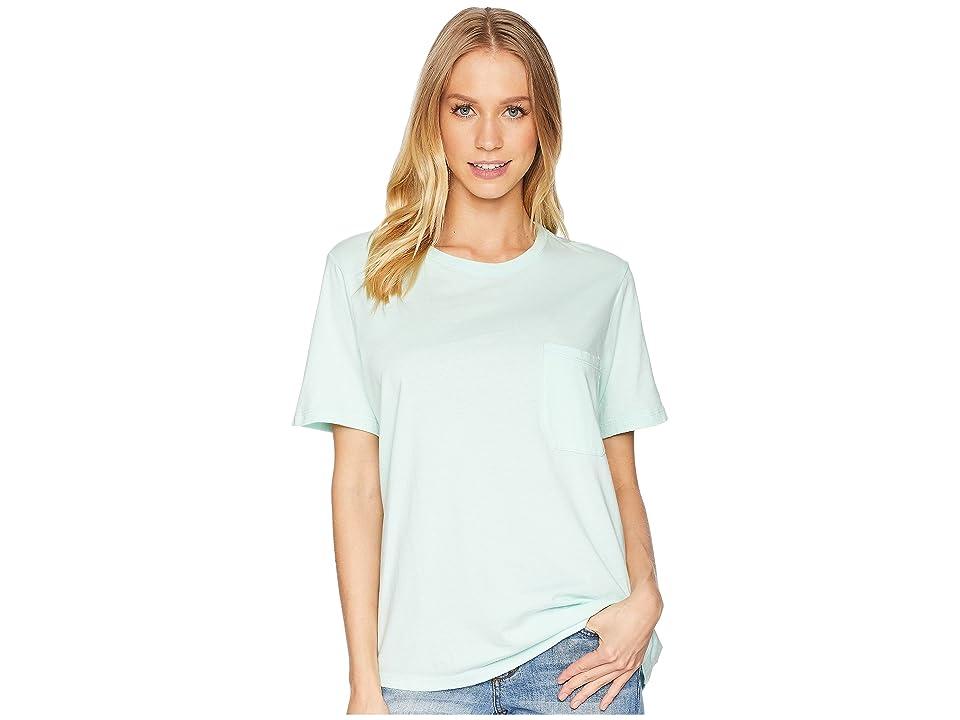 Richer Poorer Crew Pocket Tee (Mint) Women's T Shirt