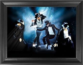 Michael Jackson King of Pop Moonwalk 3D Poster Wall Art Decor Framed Print   14.5x18.5   Lenticular Posters & Pictures   M...