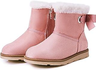 Weestep Toddler Little Kid Warm Fur Winter Flat Snow Boots Shoe
