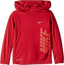 Dri-FIT Long Sleeve Pullover Hoodie (Little Kids)