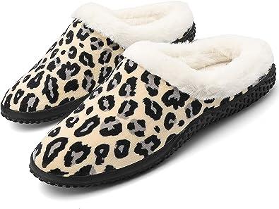 Eagsouni Pantofole Donna Invernali Pantofole casa Uomo Inverno Caldo Peluche Morbido Pelliccia Sintetica Pantofole