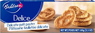 Bahlsen Delice Cookies (1 box) - Sweet & delicate, buttery puff pastry twists with light crispy layers - 3.5 oz box