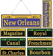2020 Mardi Gras Decorations New Orleans Street Signs 8 Pack Ornaments – 1:1 Size..