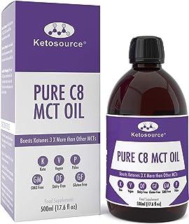 comprar comparacion C8 MCT Aceite Puro | Produce 3 X Más Cetonas Que Otros MCT Aceites | Triglicéridos de Acido Caprílico | Paleo y Vegano Ami...