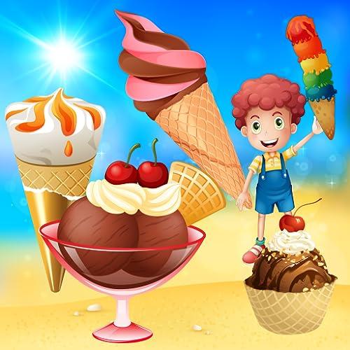Helado ! juego para los niños : descubrir el mundo de los helados ! juegos para niños - Explora una heladería y el camión de helados
