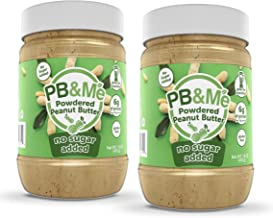 PB&Me Powdered Peanut Spread, Keto Snack, Gluten Free, Plant Protein, 16 Ounce (No Sugar Added, Pack of 2)