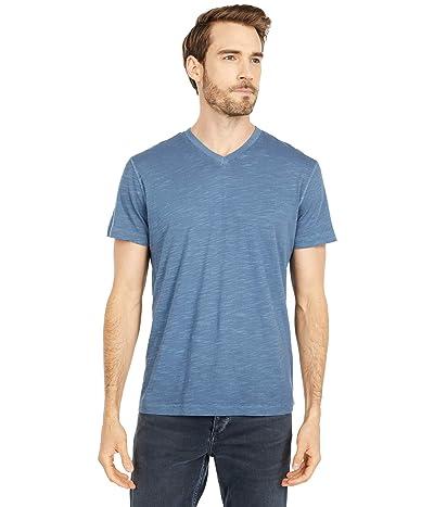 Mod-o-doc El Porto Short Sleeve V-Neck Tee (Smokey Blue) Men