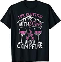 life's better with wine and a campfire