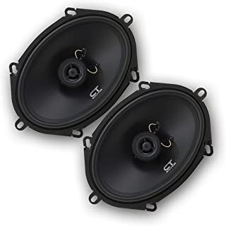 CT Sounds 5x7 Inch Coaxial Car Speakers (Pair), 2 Way Full Range, 30W (RMS) | 60W Max Power Per Speaker, Easy Mounting, 4 ...