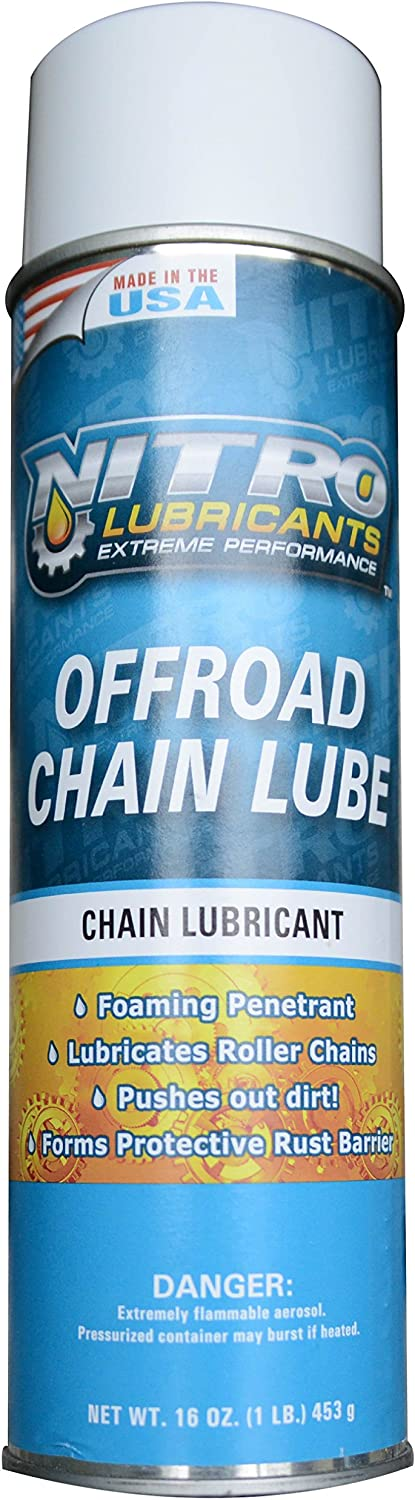 Manufacturer OFFicial shop Nitro Lubricants Off Road Foaming Lube Aerosol Chain Universal Free shipping anywhere in the nation