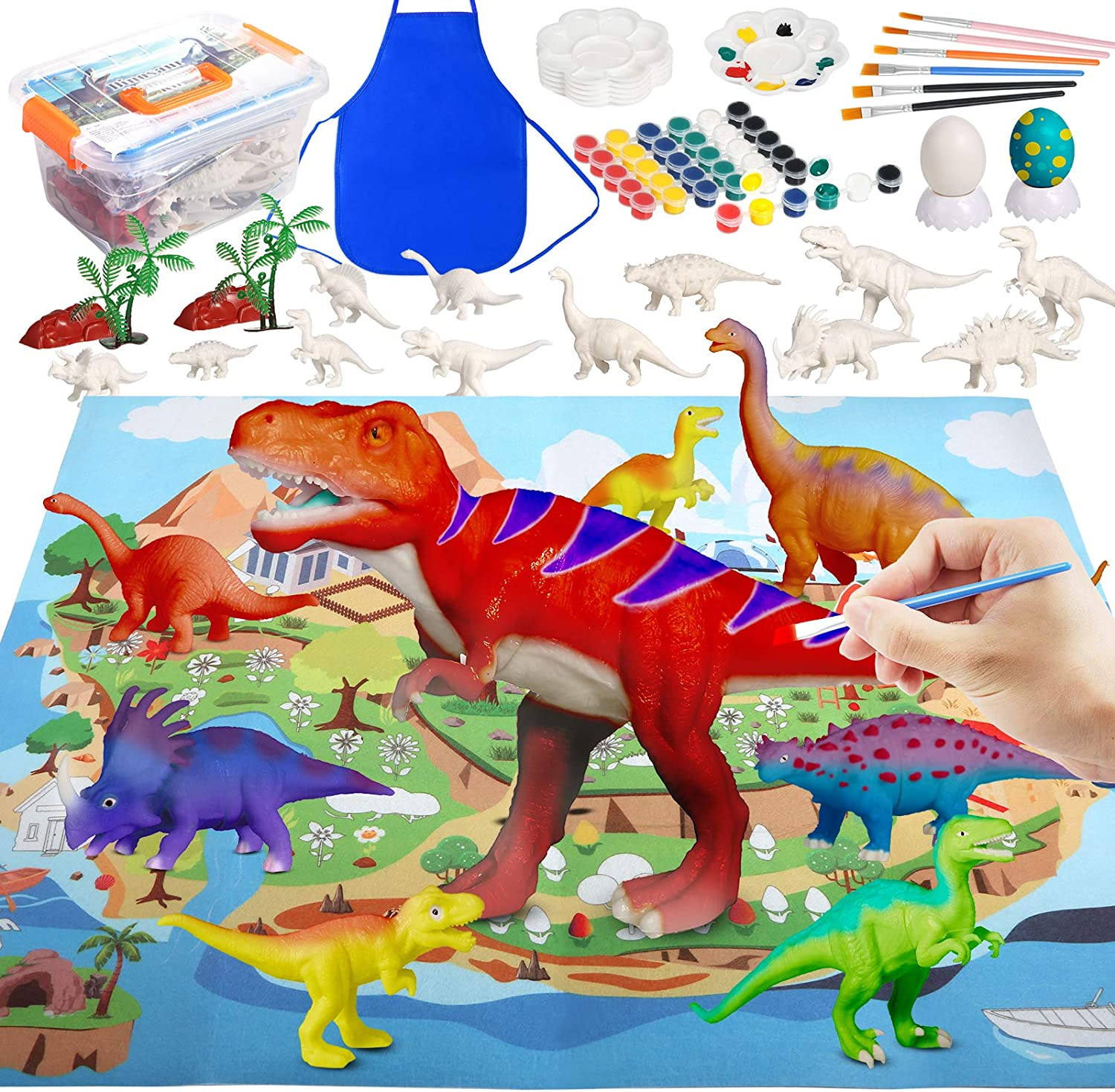 PP OPOUNT Fashionable At the price 71Pcs Dinosaur Painting Kit Crafts for Kids Arts and