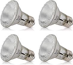 Simba Lighting 39PAR20/FL Halogen PAR20 Light Bulb 39W 30deg Spotlight Dimmable (4-Pack) for Indoor Recessed Can, Range Ho...