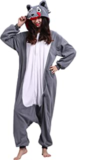 a03c596b3ae97 Adulte Unisexe Anime Animal Costume Cosplay Combinaison Pyjama Outfit Nuit  Vetements Onesie Kigurumi Halloween Costume Soiree