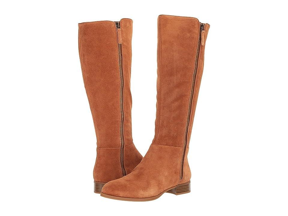 Nine West Nihari Tall Boot (Dark Natural Suede) Women